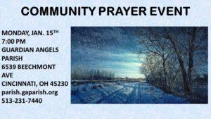 January Community Prayer Event